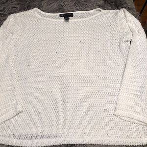INC Sweater with silver rhinestone (M)